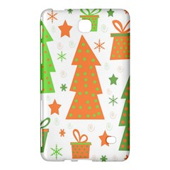 Christmas Design   Green And Orange Samsung Galaxy Tab 4 (8 ) Hardshell Case  by Valentinaart