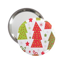Christmas Design - Green And Red 2 25  Handbag Mirrors by Valentinaart