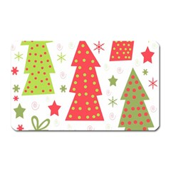 Christmas Design   Green And Red Magnet (rectangular)