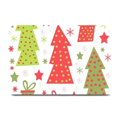 Christmas Design   Green And Red Plate Mats by Valentinaart