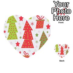Christmas Design   Green And Red Multi Purpose Cards (heart)  by Valentinaart