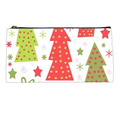 Christmas Design   Green And Red Pencil Cases by Valentinaart
