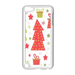Christmas Design   Green And Red Apple Ipod Touch 5 Case (white) by Valentinaart