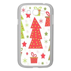 Christmas Design   Green And Red Samsung Galaxy Grand Duos I9082 Case (white) by Valentinaart