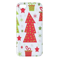 Christmas Design   Green And Red Iphone 5s/ Se Premium Hardshell Case by Valentinaart