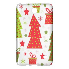 Christmas Design   Green And Red Samsung Galaxy Tab 4 (7 ) Hardshell Case  by Valentinaart