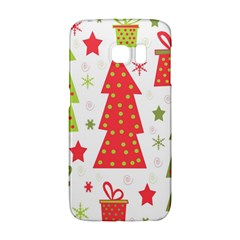 Christmas Design   Green And Red Galaxy S6 Edge