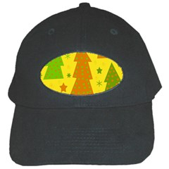 Christmas Design   Yellow Black Cap by Valentinaart