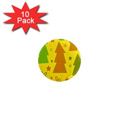 Christmas Design   Yellow 1  Mini Magnet (10 Pack)  by Valentinaart