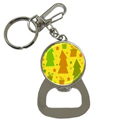 Christmas Design   Yellow Bottle Opener Key Chains by Valentinaart