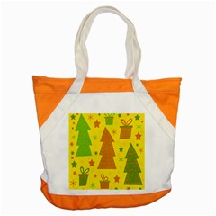 Christmas Design   Yellow Accent Tote Bag by Valentinaart