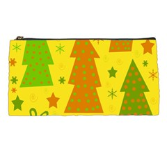 Christmas Design   Yellow Pencil Cases by Valentinaart