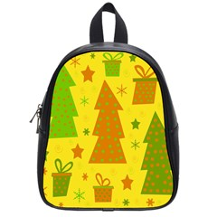 Christmas Design   Yellow School Bags (small)  by Valentinaart