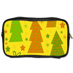 Christmas Design   Yellow Toiletries Bags 2 Side by Valentinaart