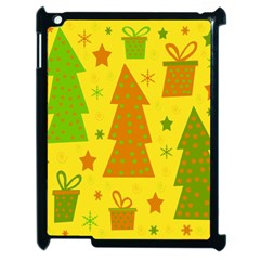 Christmas Design   Yellow Apple Ipad 2 Case (black) by Valentinaart