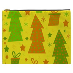 Christmas Design   Yellow Cosmetic Bag (xxxl)  by Valentinaart
