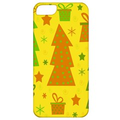 Christmas Design   Yellow Apple Iphone 5 Classic Hardshell Case by Valentinaart