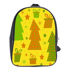 Christmas Design   Yellow School Bags (xl)  by Valentinaart