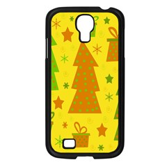 Christmas Design   Yellow Samsung Galaxy S4 I9500/ I9505 Case (black) by Valentinaart