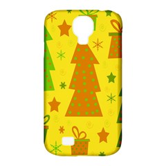 Christmas Design   Yellow Samsung Galaxy S4 Classic Hardshell Case (pc+silicone) by Valentinaart