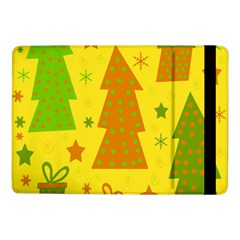 Christmas Design   Yellow Samsung Galaxy Tab Pro 10 1  Flip Case by Valentinaart