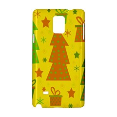 Christmas Design   Yellow Samsung Galaxy Note 4 Hardshell Case by Valentinaart