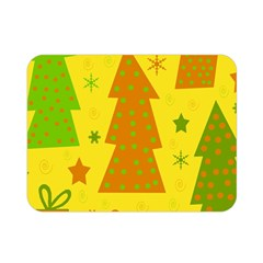 Christmas Design   Yellow Double Sided Flano Blanket (mini)  by Valentinaart