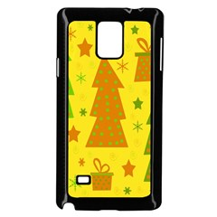 Christmas Design   Yellow Samsung Galaxy Note 4 Case (black) by Valentinaart