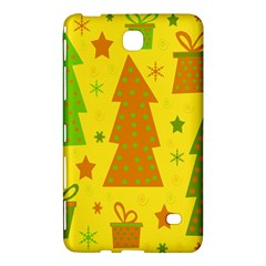 Christmas Design   Yellow Samsung Galaxy Tab 4 (7 ) Hardshell Case  by Valentinaart