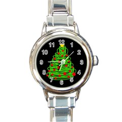 Christmas Tree Round Italian Charm Watch by Valentinaart
