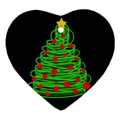 Christmas Tree Ornament (heart)  by Valentinaart