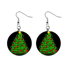 Christmas Tree Mini Button Earrings by Valentinaart