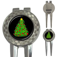 Christmas Tree 3 In 1 Golf Divots by Valentinaart