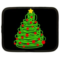 Christmas Tree Netbook Case (large) by Valentinaart