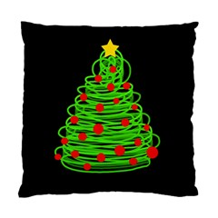 Christmas Tree Standard Cushion Case (two Sides) by Valentinaart
