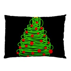 Christmas Tree Pillow Case by Valentinaart