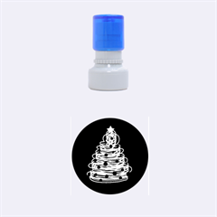 Christmas Tree Rubber Round Stamps (small) by Valentinaart