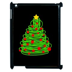 Christmas Tree Apple Ipad 2 Case (black) by Valentinaart