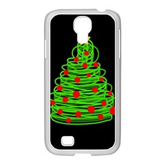 Christmas Tree Samsung Galaxy S4 I9500/ I9505 Case (white) by Valentinaart