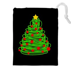 Christmas Tree Drawstring Pouches (xxl) by Valentinaart
