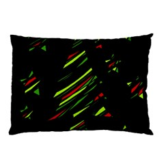 Abstract Christmas Tree Pillow Case by Valentinaart