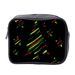 Abstract Christmas Tree Mini Toiletries Bag 2 Side