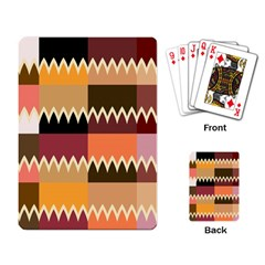 Chevrons In Squares                                                                                                 			playing Cards Single Design by LalyLauraFLM