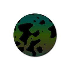 Black Spots On A Gradient Background                                                                                                  			rubber Coaster (round) by LalyLauraFLM