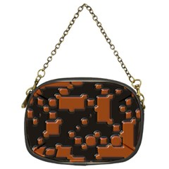 Brown Pieces                                                                                                  	chain Purse (two Sides) by LalyLauraFLM