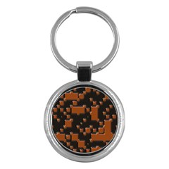 Brown Pieces                                                                                                  			key Chain (round) by LalyLauraFLM