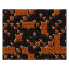 Brown Pieces                                                                                                  			jigsaw Puzzle (rectangular) by LalyLauraFLM