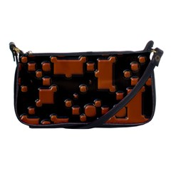 Brown Pieces                                                                                                  			shoulder Clutch Bag by LalyLauraFLM