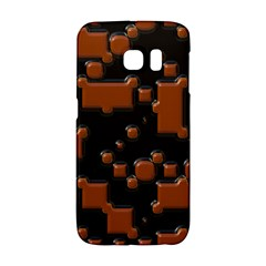 Brown Pieces                                                                                                 			samsung Galaxy S6 Edge Hardshell Case by LalyLauraFLM