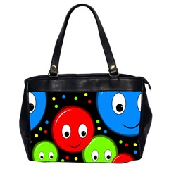 Smiley Faces Pattern Office Handbags (2 Sides)  by Valentinaart